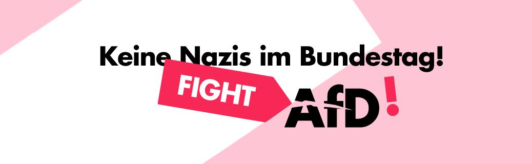Demo gegen die AfD im Bundestag
